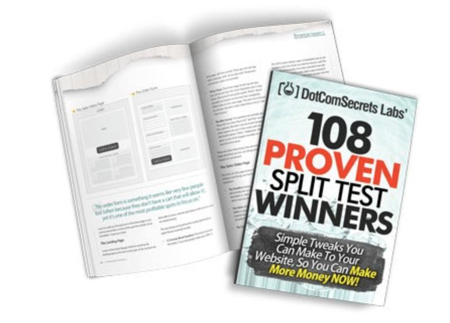 108 proven split test winners ebook