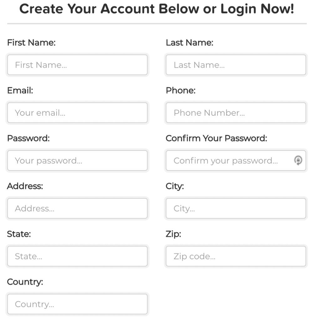 ClickFunnels Affiliate Program Signup Form