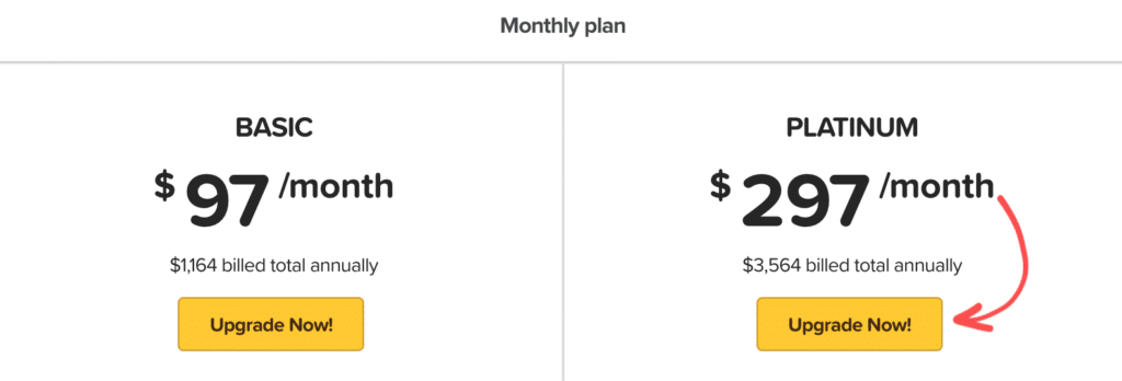 ClickFunnels Monthly Billing Prices