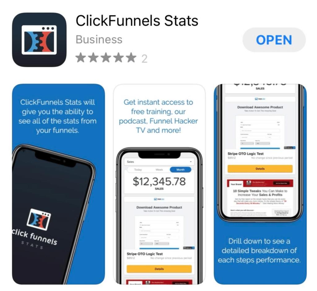 ClickFunnels Stats Mobile App