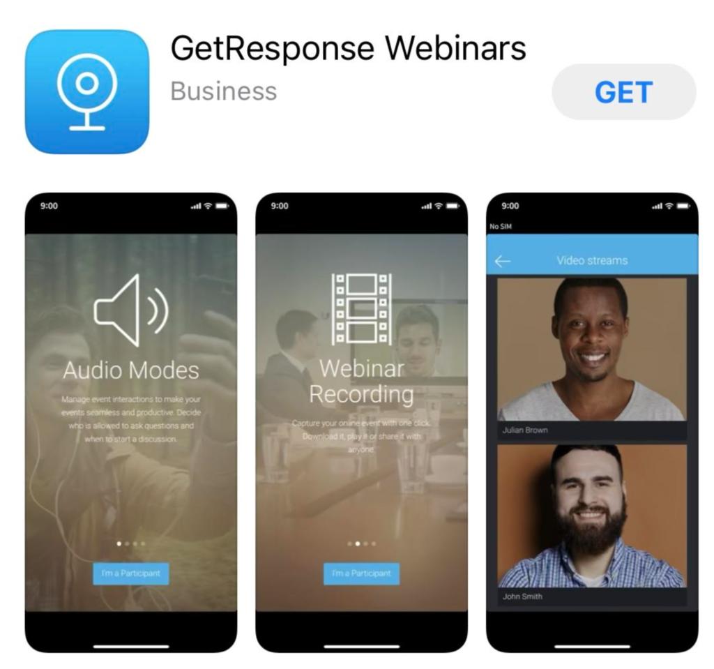 GetResponse Webinars App