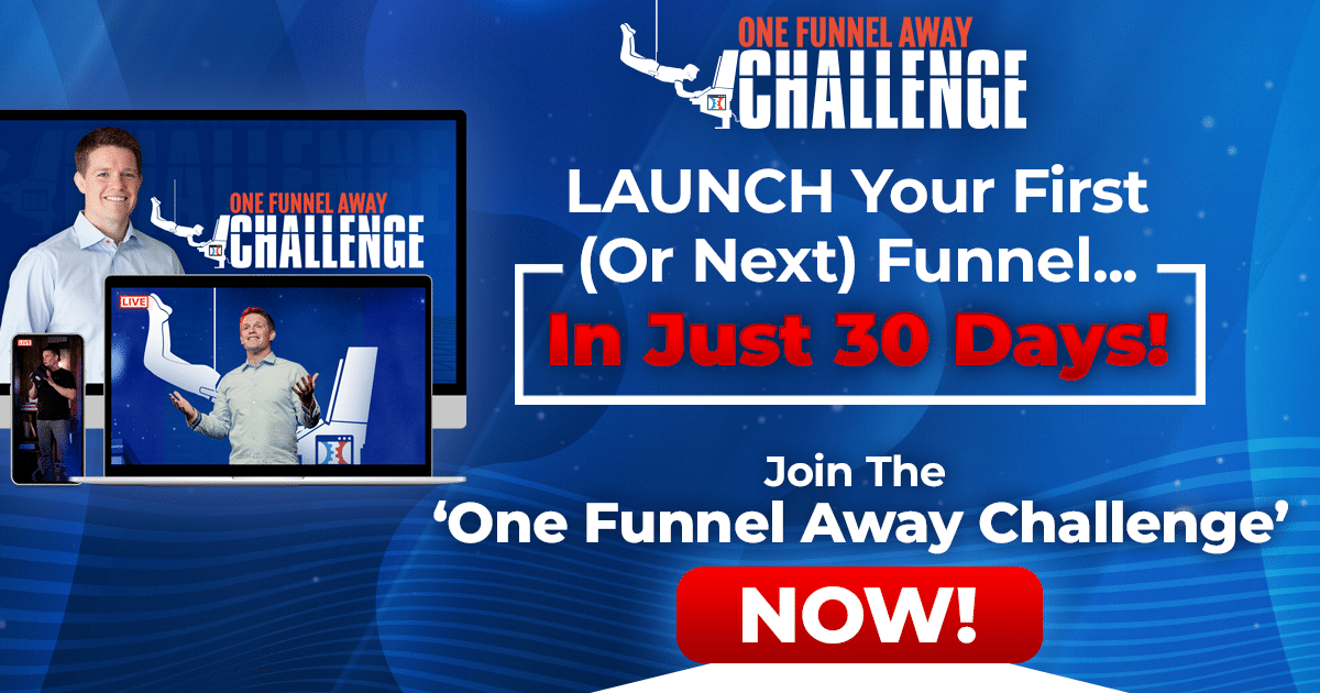 One Funnel Away Challenge Banner