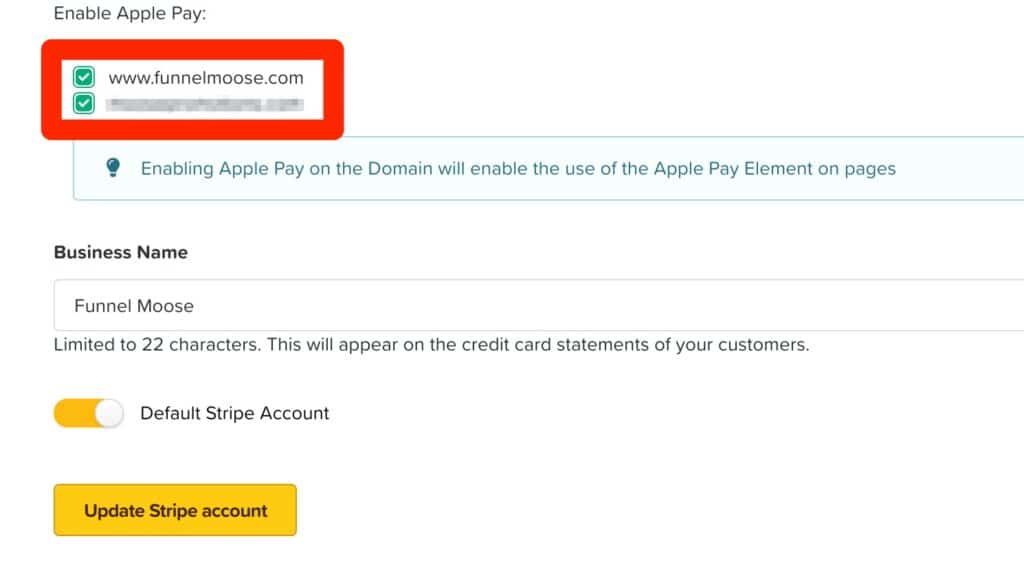 ClickFunnels Domains To Enable Apple Pay On