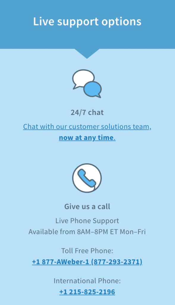 AWeber Live Support
