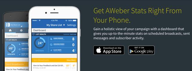 AWeber Stats App