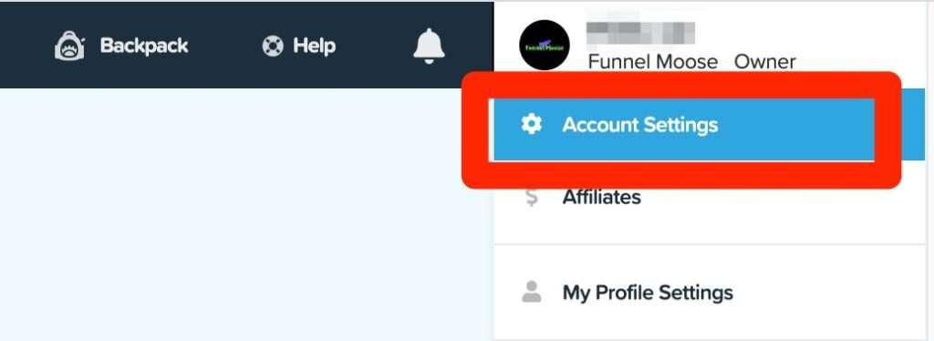ClickFunnels Account Settings