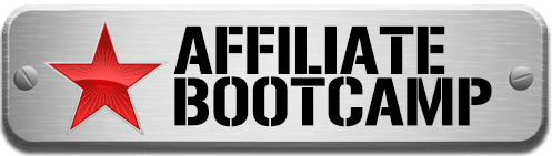 Silve plaque with a red star and the words Affiliate Bootcamp