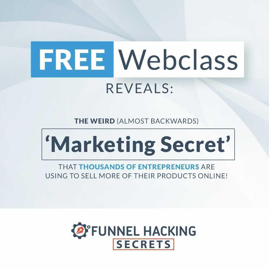 Funnel Hacking Secrets Free Webclass