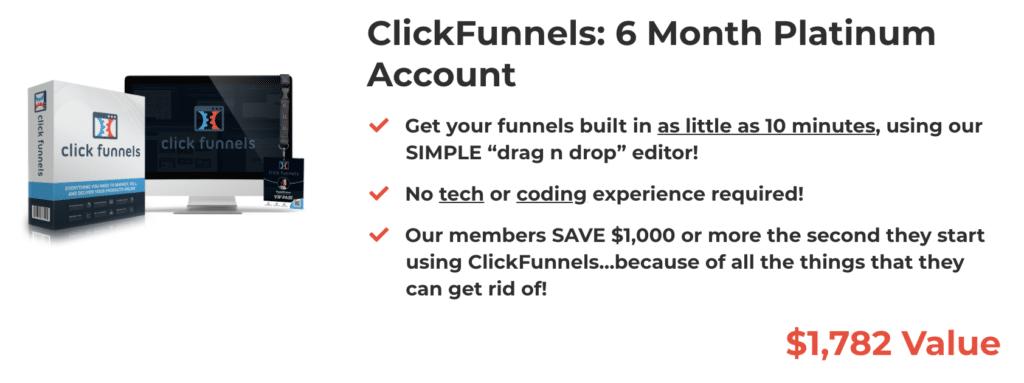 6 Months ClickFunnels Platinum