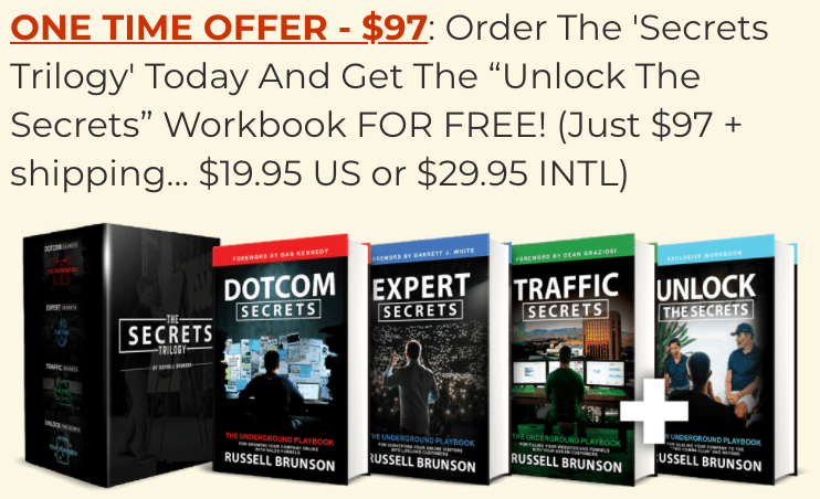The Secrets Trilogy Upsell Offer