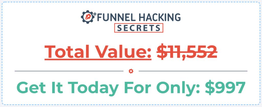 Funnel Hacker Secrets Price Tag