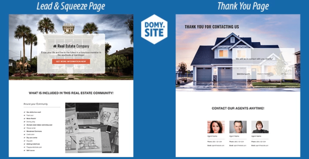 Real Estate Lead & Squeeze Funnel